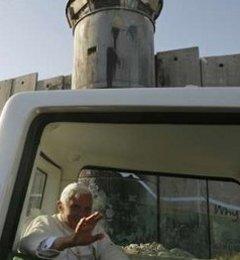 El Papa reza para que cesen las hostilidades que han provocado que se construya el muro de Cisjordania