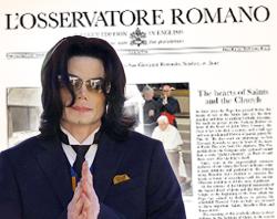 El periódico del Vaticano se hace eco de la muerte de Michael Jackson