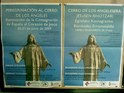 España, ausente de los carteles en euskera de la archidiócesis de Pamplona sobre el acto del Cerro de los Ángeles