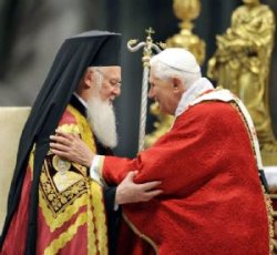 Benedicto XVI anima a profundizar en el diálogo con los ortodoxos sobre el primado petrino