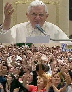 Benedicto XVI: «No basta creer que Jesús es Dios, es necesario seguirle en su camino, el de la cruz»