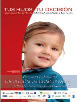 Madrid Educa en Libertad acusa al gobierno de Esperanza Aguirre de no hacer nada para defender a los objetores contra la EpC