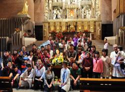 Familias chinas residentes en España participaron en Torreciudad en la 3ª Jornada de Oración por la Iglesia en China