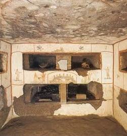 Descubren en las Catacumbas de Santa Tecla los iconos más antiguos de los apóstoles Pedro, Pablo, Andrés y Juan