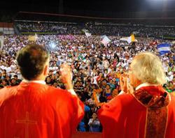 El Arzobispo de Managua llama «fieras de Jesucristo» a 30.000 jóvenes católicos nicaraguenses