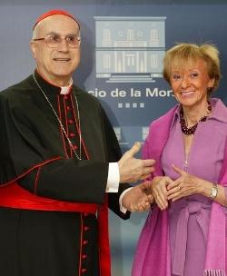 El Cardenal Rouco agradece a Fernández de la Vega su sensibilidad hacia la Iglesia en España