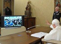 Benedicto XVI conversa durante 20 minutos con los astronautas de la Estación Espacial Internacional