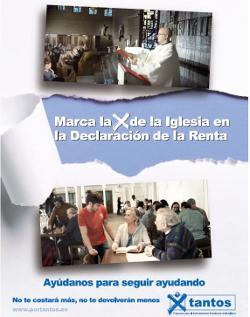 La Iglesia en España lanza la campaña a favor de marcar la X en la declaración de la Renta