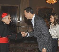 El Cardenal Rouco destaca ante los Príncipes de Asturias el apoyo social a la JMJ