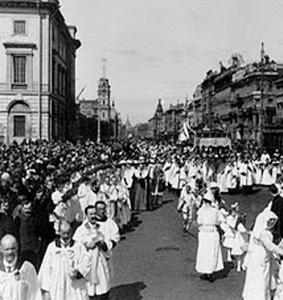 Después de 93 años, el domingo habrá procesión del Corpus Christi en San Petersburgo