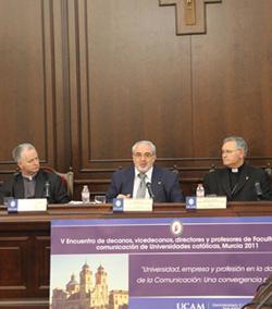 Encuentro en la UCAM de directores y profesores de Comunicación de Universidades Católicas