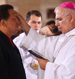 Hugo Chávez recibe el sacramento de la unción de enfermos