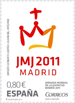 Correos emite un sello con motivo de la JMJ 2011