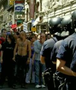 Denuncian amenazas de muerte contra los agentes que intervinieron en la manifestación anti-JMJ