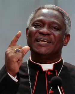 El Cardenal Turkson muestra su alegría por la concesión del Nobel de la Paz a tres mujeres