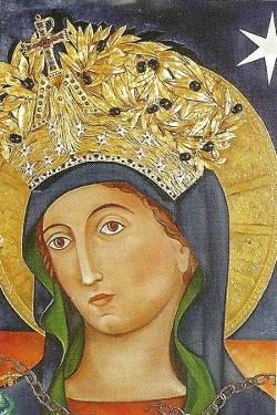 Mons. Sarlinga entroniza un icono sagrado de la Madona del Pozzo en una parroquia de Buenos Aires