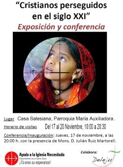 «Cristianos perseguidos en el siglo XXI» se expone en Huesca del 17 al 20 de noviembre