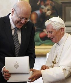 El Papa pide un compromiso para lograr que Siria alcance la paz y se respeten los derechos humanos