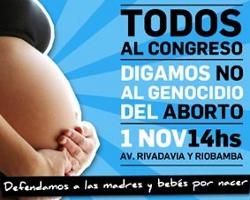 La Argentina a favor de la vida se moviliza contra los proyectos de ley abortistas