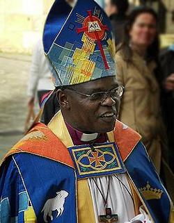 John Sentamu, arzobispo de York, favorito para sustituir a Rowan Williams como primado anglicano