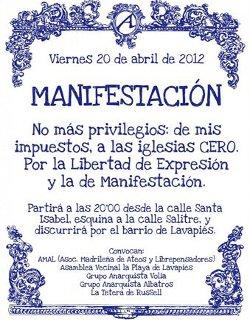 Los ateos se manifestarán el próximo viernes por el barrio madrileño de Lavapiés