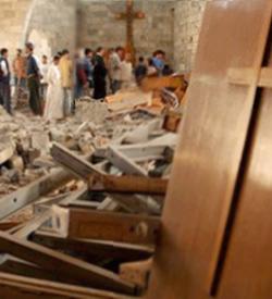 Iglesia de San Elías en Qusayr profanada y ocupada por islamistas