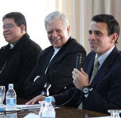 Henrique Capriles pide a la Iglesia Católica que medie en un diálogo entre todos los venezolanos