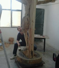 Jesús Arévalo: «Si soy escultor, es porque Dios quiere»