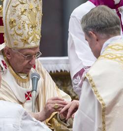 Benedicto XVI: «La inquietud de Dios hacia el hombre y la del hombre hacia Dios no deben dejar tranquilo al Obispo»