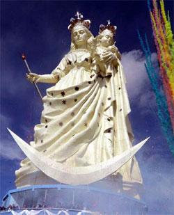 Bendecida imagen católica más alta del mundo en Oruro