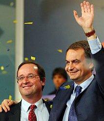 Zapatero asesoró a Hollande sobre el matrimonio homosexual