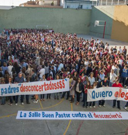 La Junta de Andalucía asfixia a Escuelas Católicas