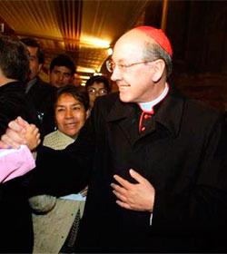 El Cardenal Cipriani se reunirá con el Papa Francisco