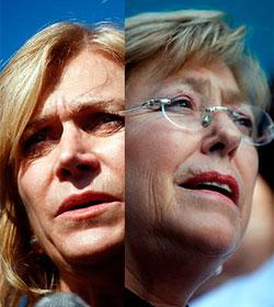Bachelet y Matthei discuten sobre el papel del cristianismo en Chile
