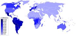 Panorama de la Iglesia Católica en el mundo en 2013