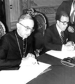 La revisión de los Acuerdos de España con la Santa Sede
