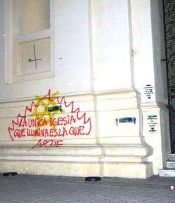 Argentina: atacan la Catedral de Córdoba con pintadas ofensivas y botellazos