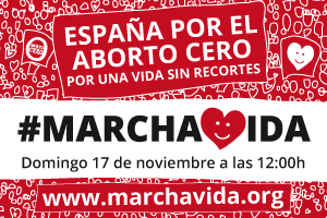 El domingo 17 de noviembre, Marcha por la Vida en España