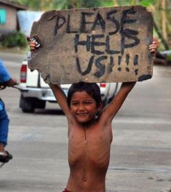 Niños huérfanos por el tifón son víctimas de traficantes y pedófilos en Filipinas