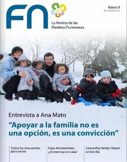 La Federación Española de Familias Numerosas  lanza la primera revista especializada en el colectivo