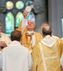 3.000 fieles celebran el día de la familia en la Sagrada Familia de Barcelona