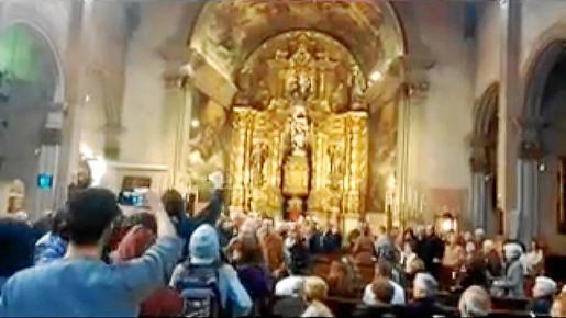 Un grupo de proabortistas profana una Misa en Palma de Mallorca