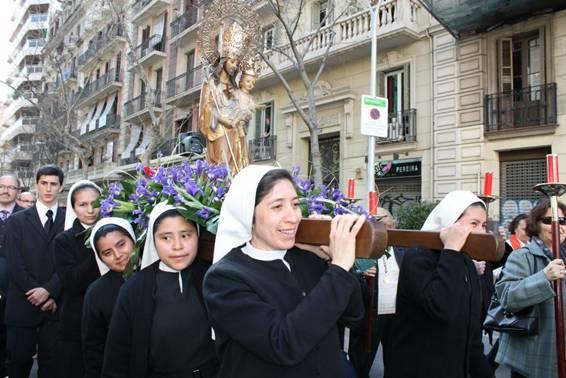 Los Jóvenes de San José volverán a sacar en procesión la imagen de su patrón en Barcelona