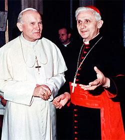 Benedicto XVI acudirá mañana a la canonización de Juan XXIII y Juan Pablo II