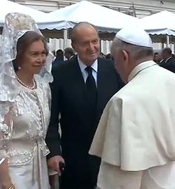 El Papa recibe hoy a los Reyes de España