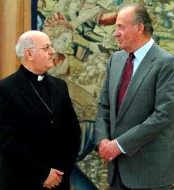España: el Jefe del Estado recibe al presidente de la Conferencia Episcopal