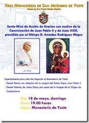 El Monasterio de Yuste recibirá las reliquias de la sangre de San Juan Pablo II