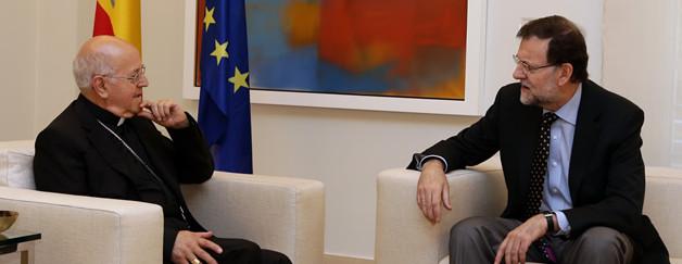 Mariano Rajoy agradece a Mons. Blázquez el papel que la Iglesia realiza en favor de los más necesitados