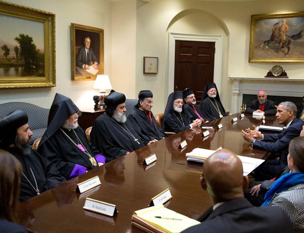 Obama dice a los patriarcas de Oriente Medio que ayudará a los cristianos y el resto de minorías religiosas