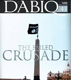 Revista del Califato Islámico: una bandera negra 'flamea' en San Pedro